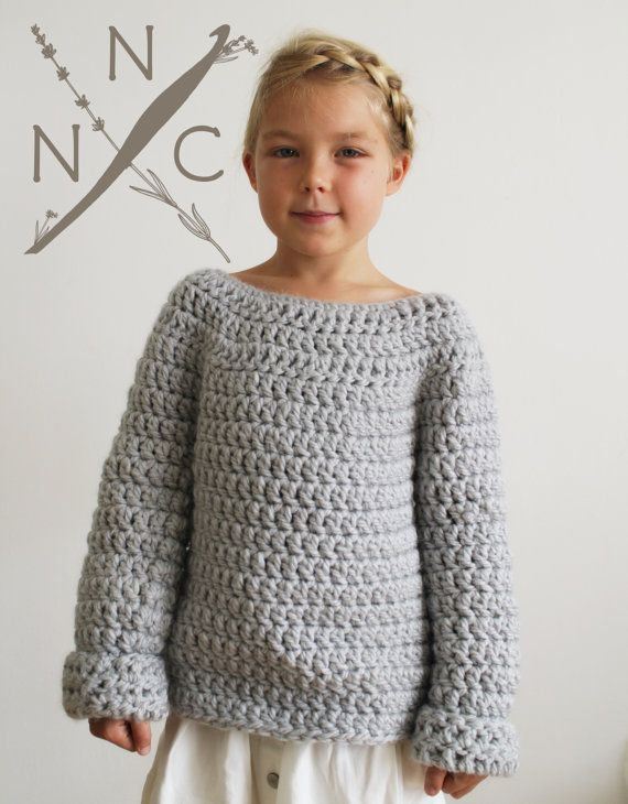 Crochet Pattern: The Lise Sweater 3/4, 5/6, 8/10, Adult Small ...
