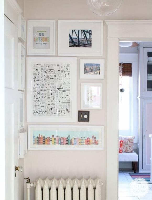 10 Fotowand Ideen mit Einfache Bilderrahmen - Wanddeko doDEKOde