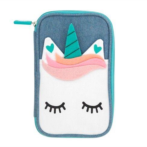 Denim Unicorn Pencil Case Yoobi Cool For School