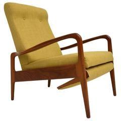 Retro Teak Reclining Armchair by Greaves & Thomas Vintage, 1960s