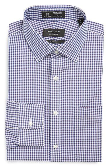 Nordstrom Smartcare™ Wrinkle Free Classic Fit Gingham Dress Shirt available at #Nordstrom