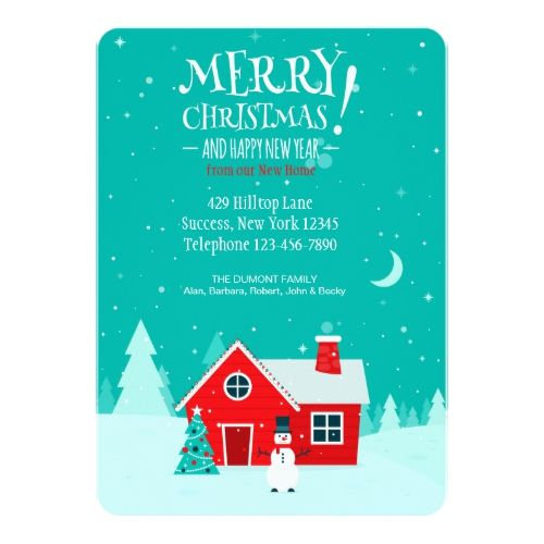 Christmas In Our New Home Holiday Card Zazzle Com Holiday Design Card Holiday Cards Christmas Card Trends