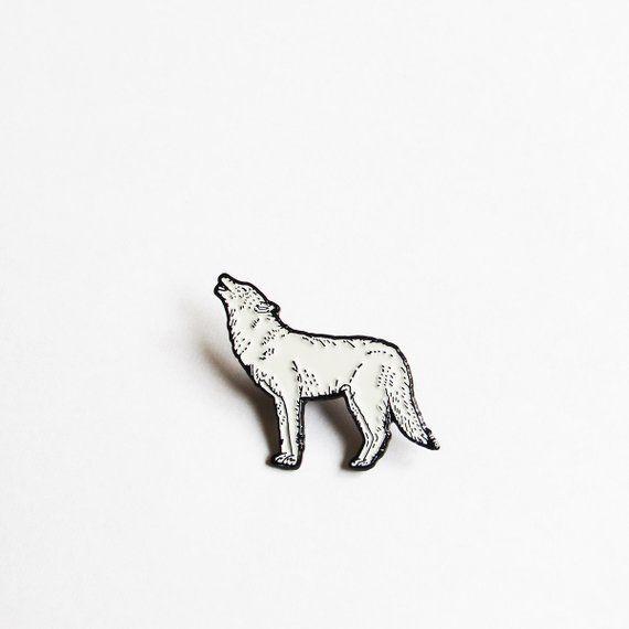 5c20b1345b44 Howling Wolf Enamel Pin   Products   Wolf howling, Wolf, Cute pins