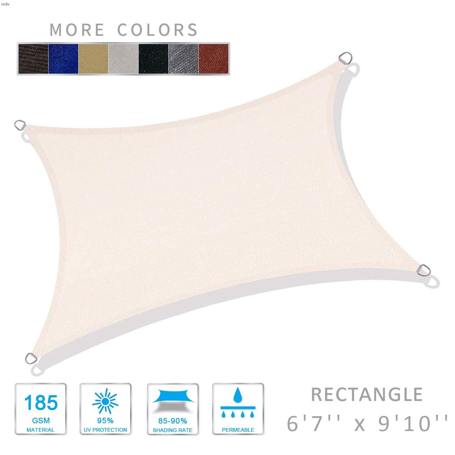 Love Story 6 5 X 9 10 Rectangle Beige Sun Shade Sail Canopy Uv Block Awning For Outdoor Patio Garden Backyard Mad In 2020 Sun Sail Shade Shade Sail Sail Canopies