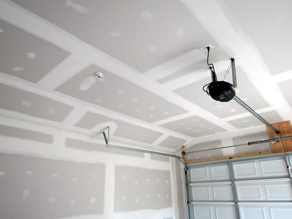 drywall after garage door tracks projects garage in 2019 on dry wall id=96504