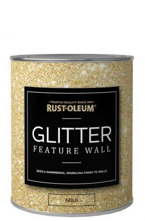 Glitter Feature Wall in 2020 Rustoleum spray paint, Rust