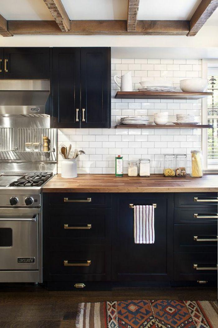 la cuisine en bois massif en beaucoup de photos cuisine. Black Bedroom Furniture Sets. Home Design Ideas