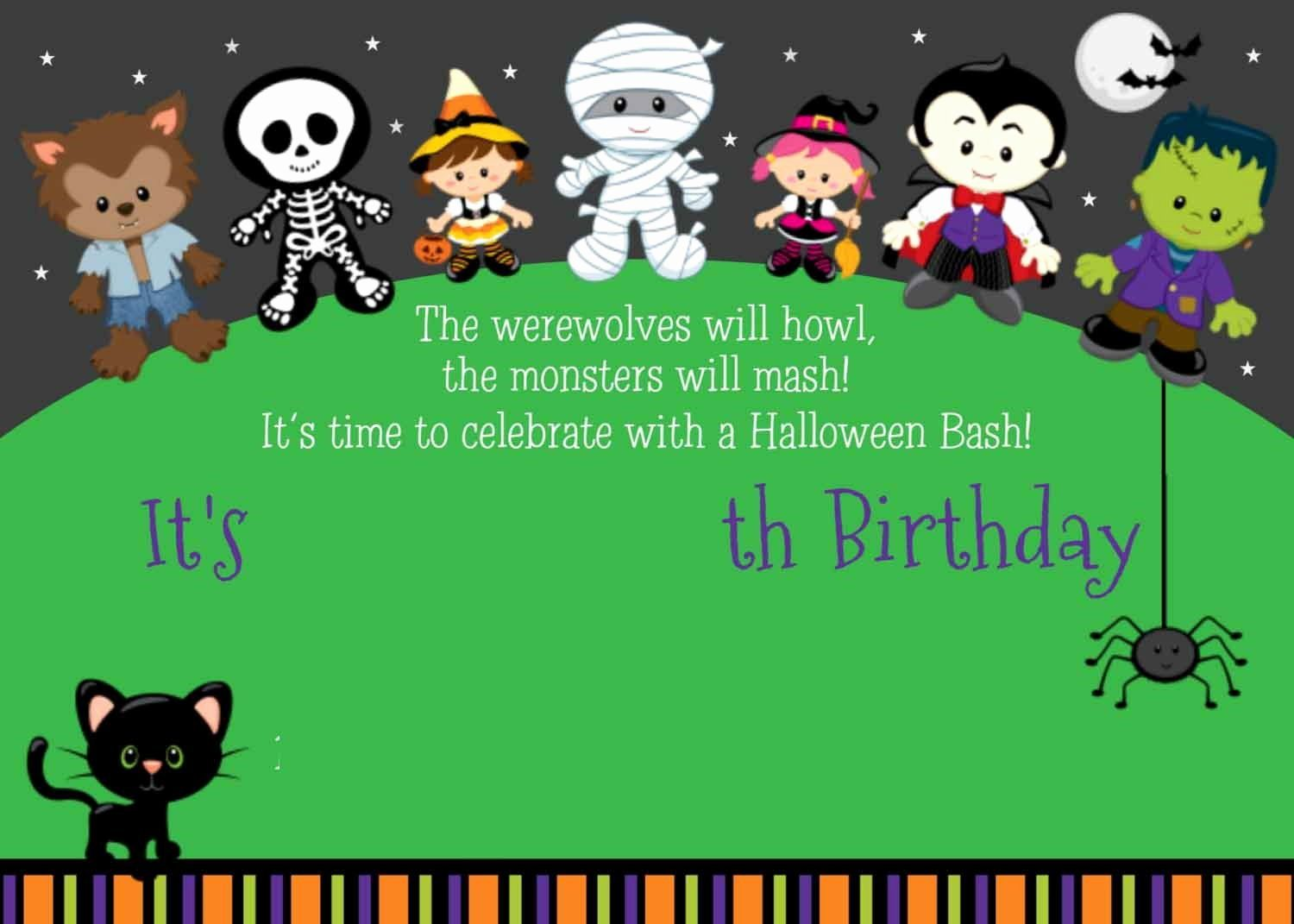 Halloween Birthday Party Invitations Unique Free Printable Halloween Birthday Party Invitations Halloween Party Invitation Template Halloween Party Invitations