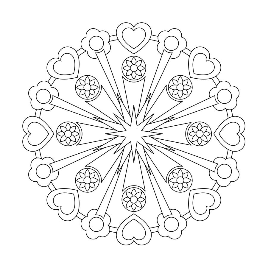 ❤~ Mandala para Colorear ~❤   circulos y formas   Pinterest ...