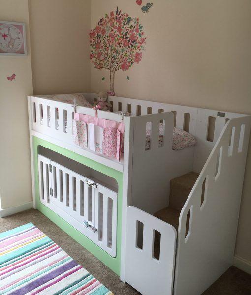 Bunk Bed With Crib Underneath Bedroom Pinterest Kids Bunk