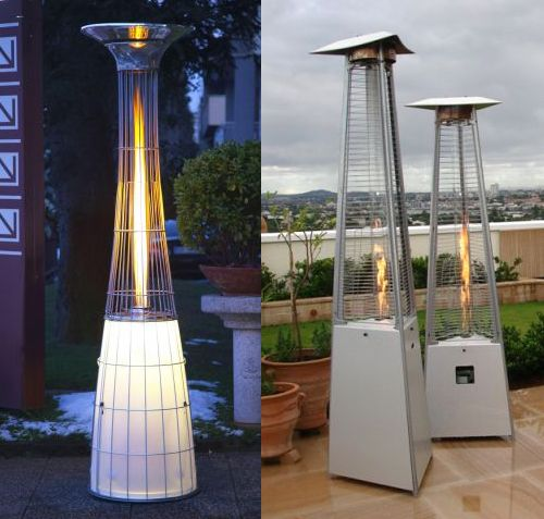 Outdoor E Gas Heaters By Alpina Remote Controlled With Light
