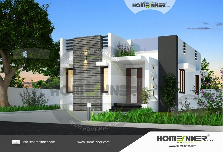 650 Sq Ft Small Two Bedroom House Plan Simple House Design House Design