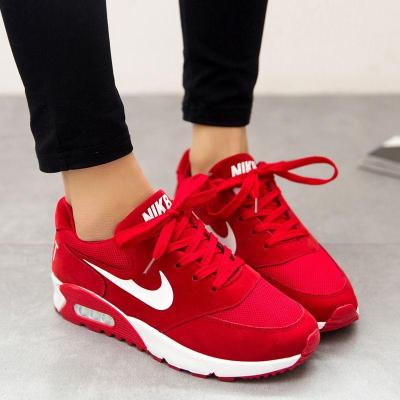 zapatos nike de mujer rojos