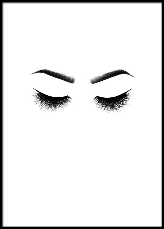 Lashes, posters in the group Posters  / Bestsellers at Desenio AB (8542)
