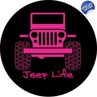 Pink Jeep Life Tire Cover Jeep Tire Cover Pink Jeep Accessories Pink Jeep