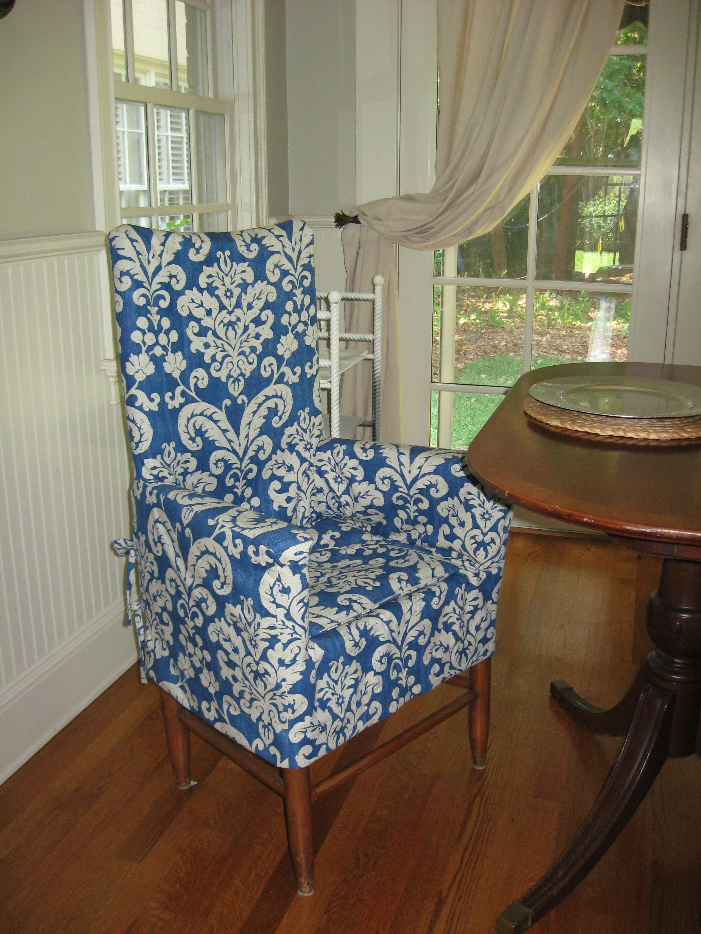 Slipcover transforms my client's wooden ladderback chair