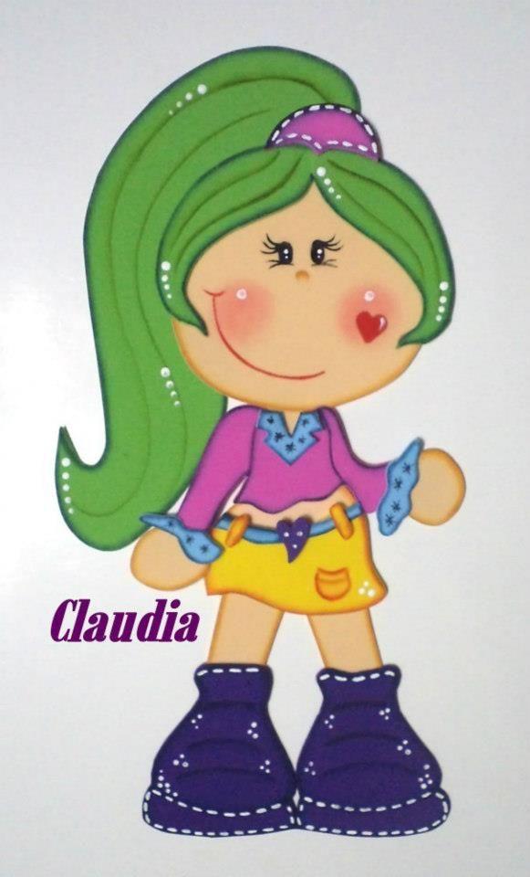 Moldes Coqueta muñequita en goma eva Preciosa muñequita fofucha ...