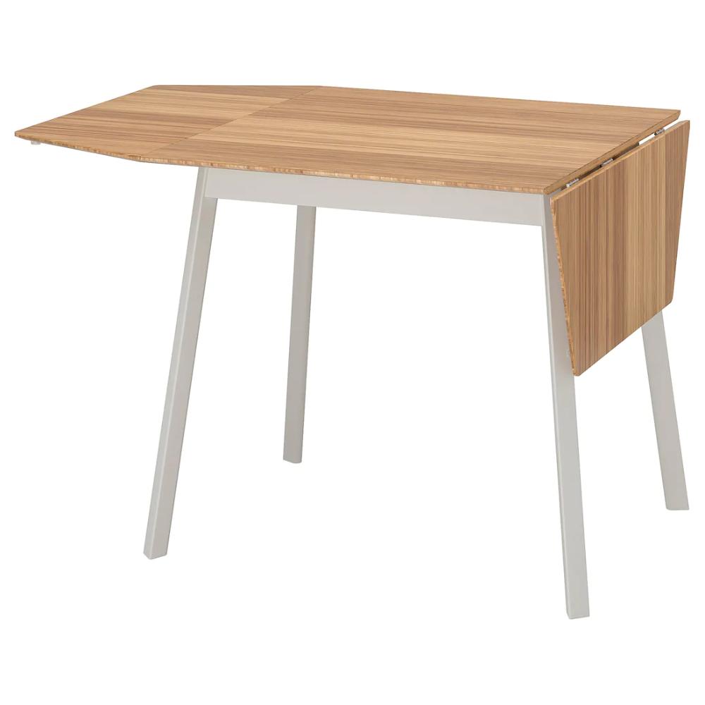 Ikea Ikea Ps 2012 Bamboo White Drop Leaf Table In 2020 Drop