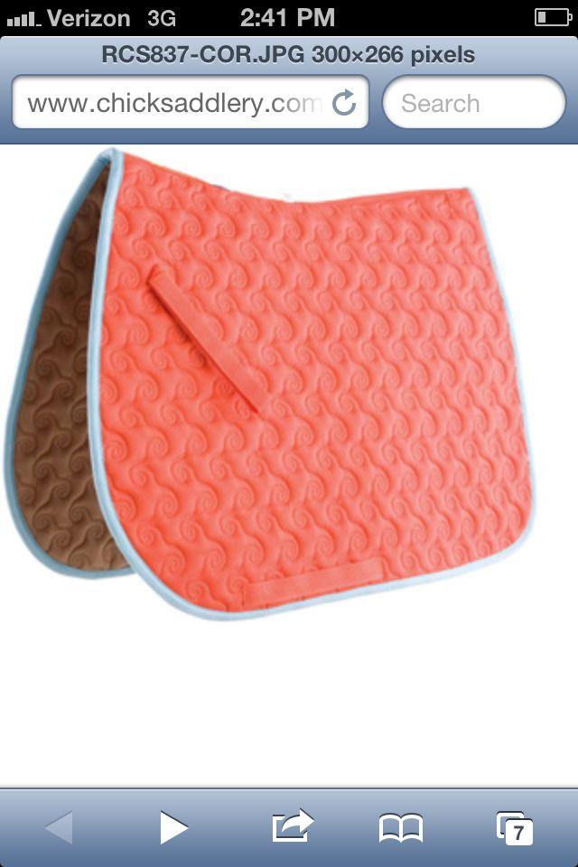 Coral saddle pad :-O