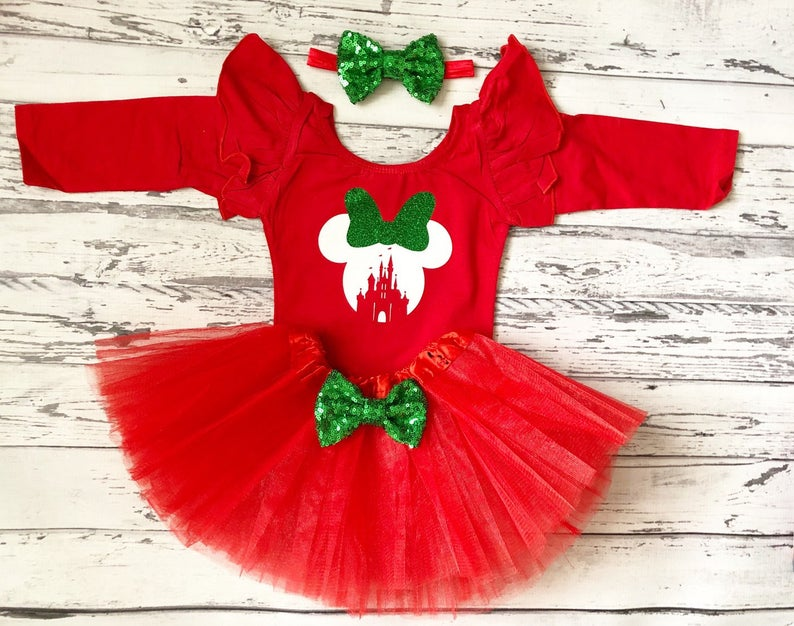 Christmas Outfit red tutu Red and green christmas outfit Christmas Outfit for girls green glitter Christmas Dress Merry and Bright