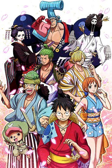 Straw Hats Wano 8211 One Piece Millions Of Unique Designs By Independent Artists Find Yo In 2020 Manga Anime One Piece One Piece Anime One Piece Wallpaper Iphone