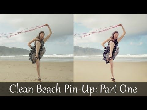 Adobe Photoshop Tutorials CS6 How to Clean Model Pin-up Beach Retouch and Color Correction Part 1 - YouTube