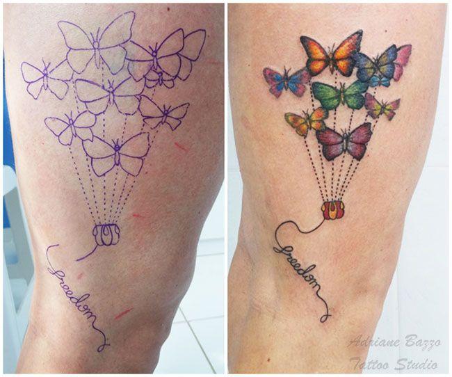 Borboleta - Tatuagem de Adriane Bazzo Tattoo Studio - Pouso Alegre/MG