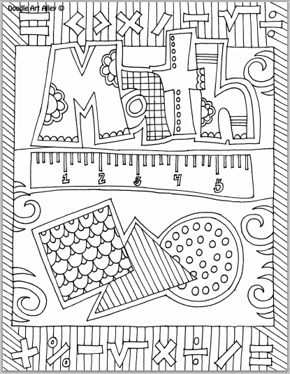 Exquisite Templates Create Tasteful Artistic Opportunities Math Coloring School Subjects Math Notebook Cover