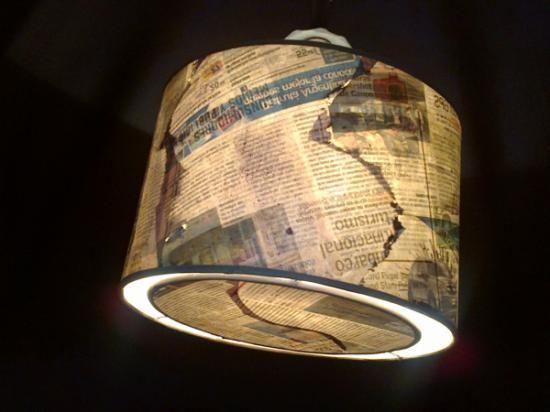 pantalla hecha en papel reciclado  pantallas y lámparas