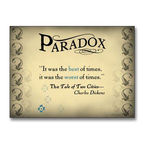 paradox examples in literature