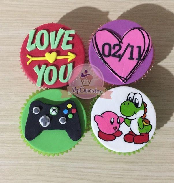Y que tal estos cupcakes con lo que mas te gusta. Cupcakes de amor. Cupcakes con mensaje. Cupcakes love you