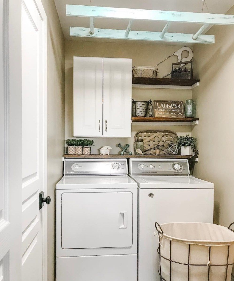 24 laundry room decorating ideas to help organize space on extraordinary small laundry room design and decorating ideas modest laundry space id=86078