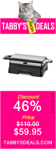 Cuisinart GR-11 Griddler 3-in-1 Grill and Panini Press $59.95