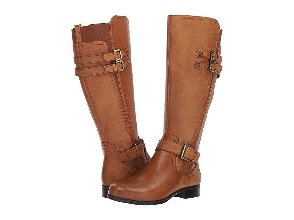 893cd8a8ed26 Naturalizer Jessie Wide Calf Women s Boots Banana Bread Wide Calf Leather