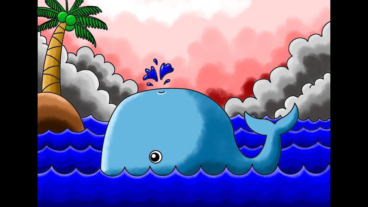 Cara Paling Mudah Menggambar Ikan Paus Untuk Anak Anak Youtube Ikan Paus Untuk Anak Anak Anak