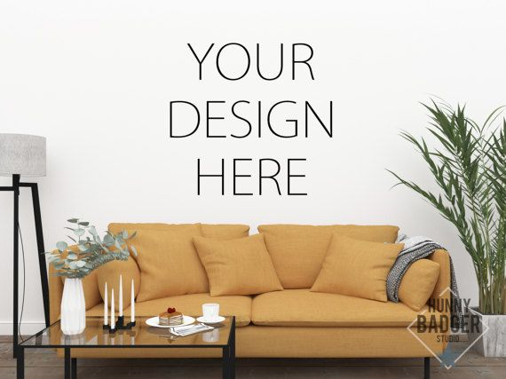 Instant Download Digital File Wall Mockup Wall Art Mockup Text Mockup You Can Use This Mockup To Display You Living Room Pictures Blank Walls Empty Wall