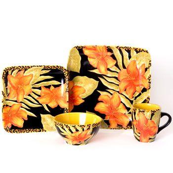 Laurie Gates Jungle Bloom dinnerware  sc 1 st  Pinterest & Laurie Gates Jungle Bloom dinnerware | Dishes | Pinterest | Gates ...