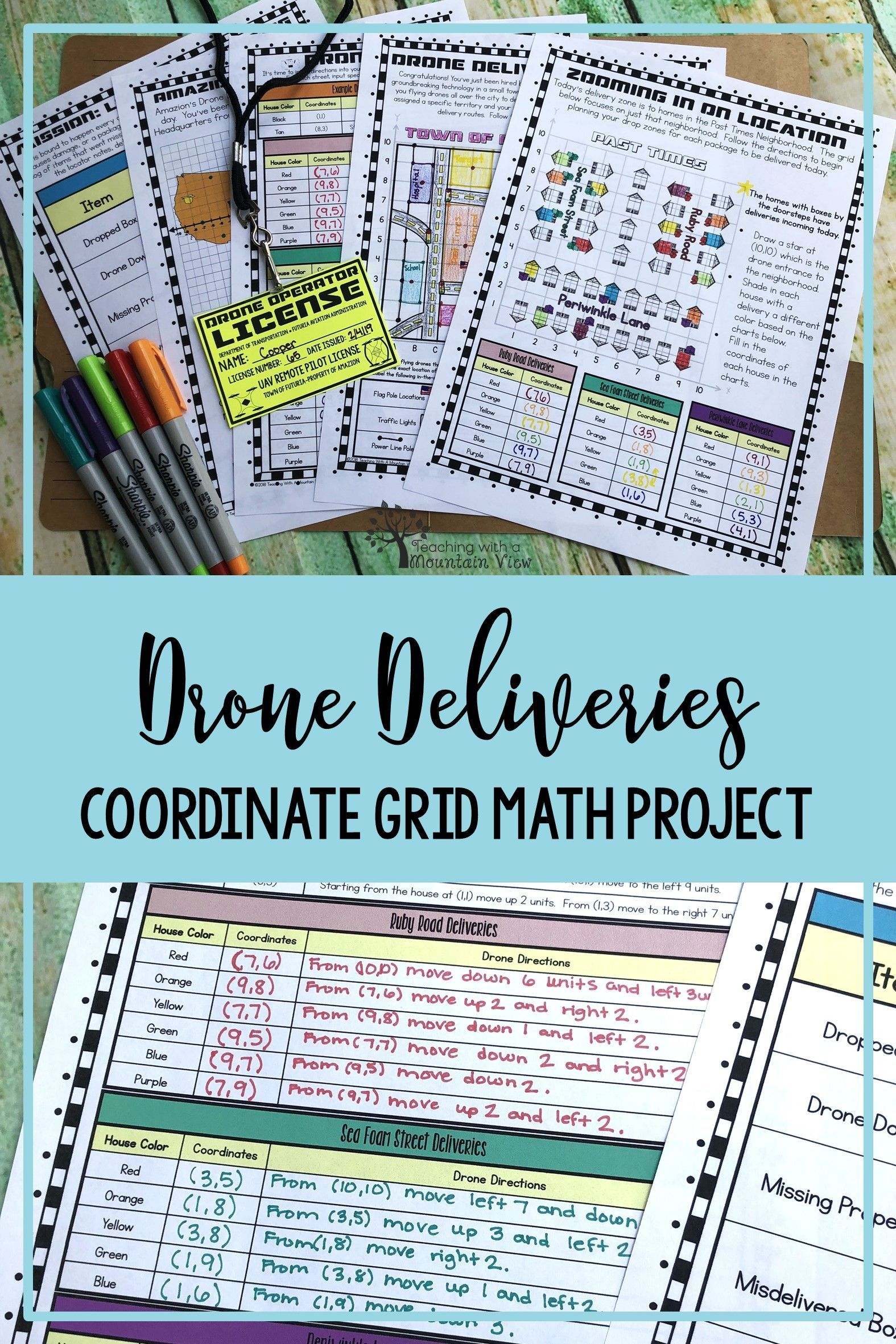 Coordinate Grid Math Project