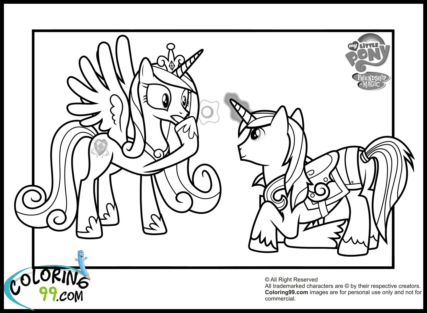 Cadance and Shining Armour | Coloring Pages | Pinterest