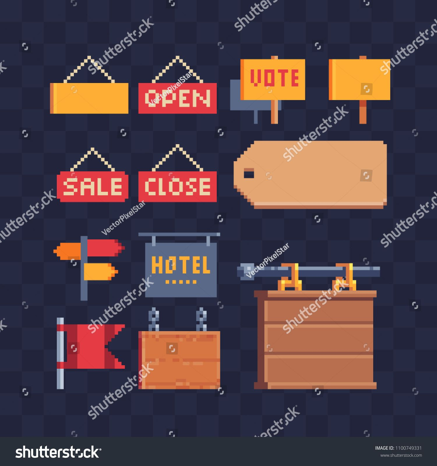 Open closed door sign retail store, sale tags, pointer