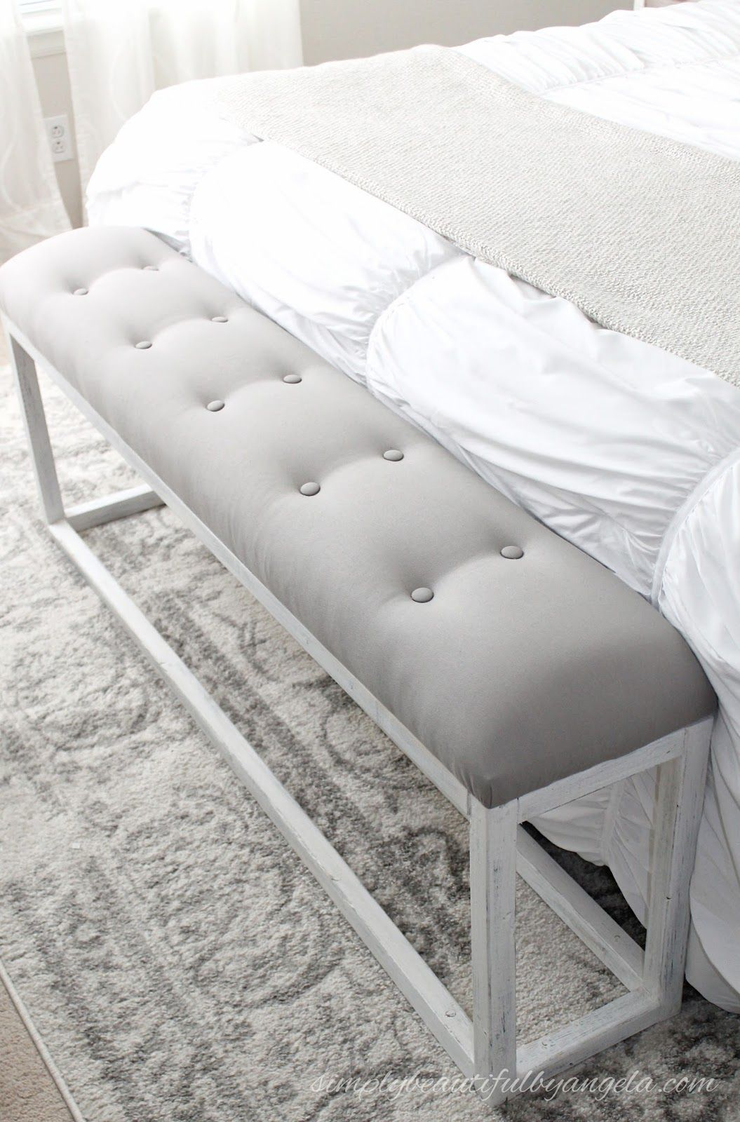 DIY Simple End of Bed Bench | Crazy for DIY | End of bed bench