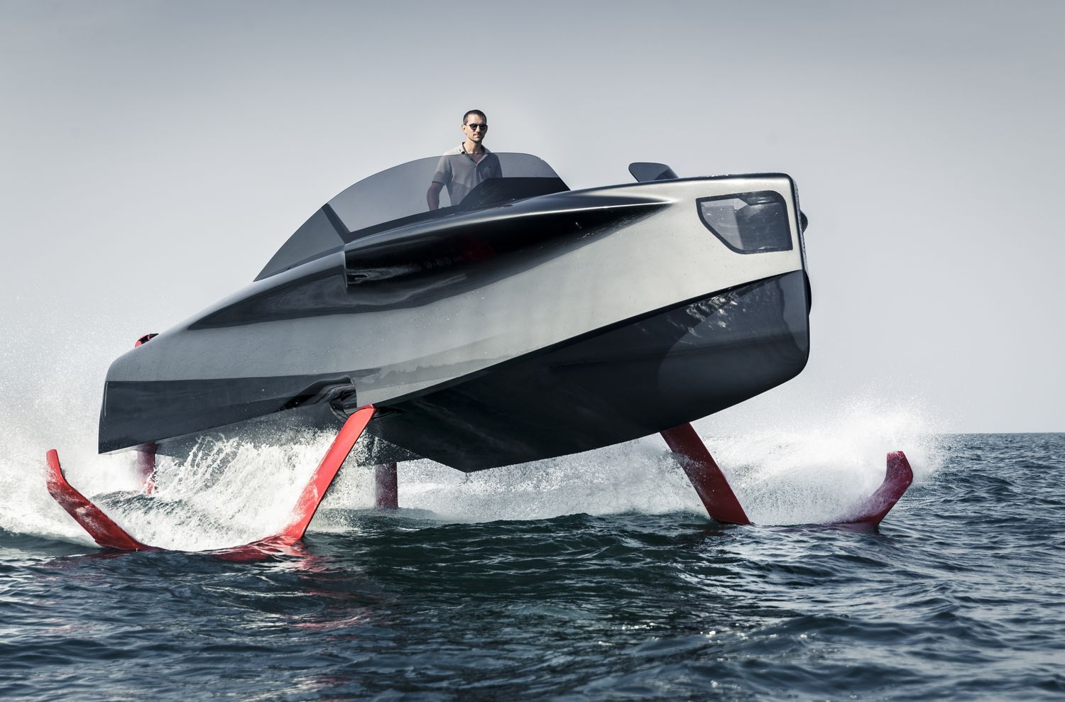 Foiler A Hydrofoil Boat From The United Arabian Emirates Boat Yacht Boats Luxury