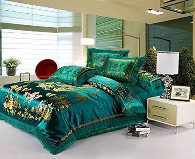 Best Jacquard Chinese Wedding Bedding Set Dragon Phoenix Double
