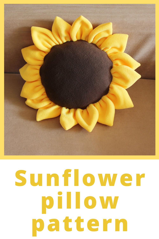sunflower decorative pillow sewing