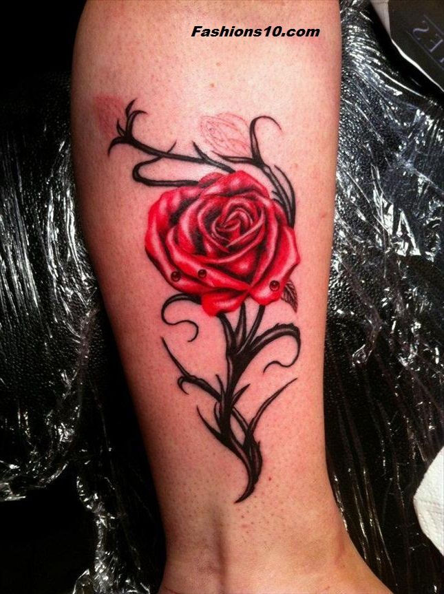 Cover Up Rose Outline: Rose Tattoo Outlines And Thoughts For Men And Ladies 2016-17