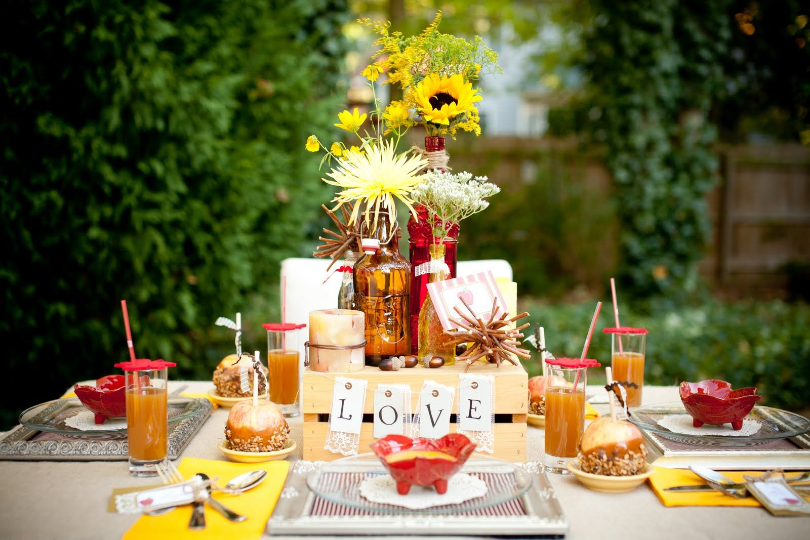 Best 25 bridal shower fall ideas on pinterest autumn for Autumn wedding decoration