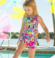 5102ce9c624d Lilly Pulitzer Girls Mini Deanna Romper shown in Multi Besame Mucho.
