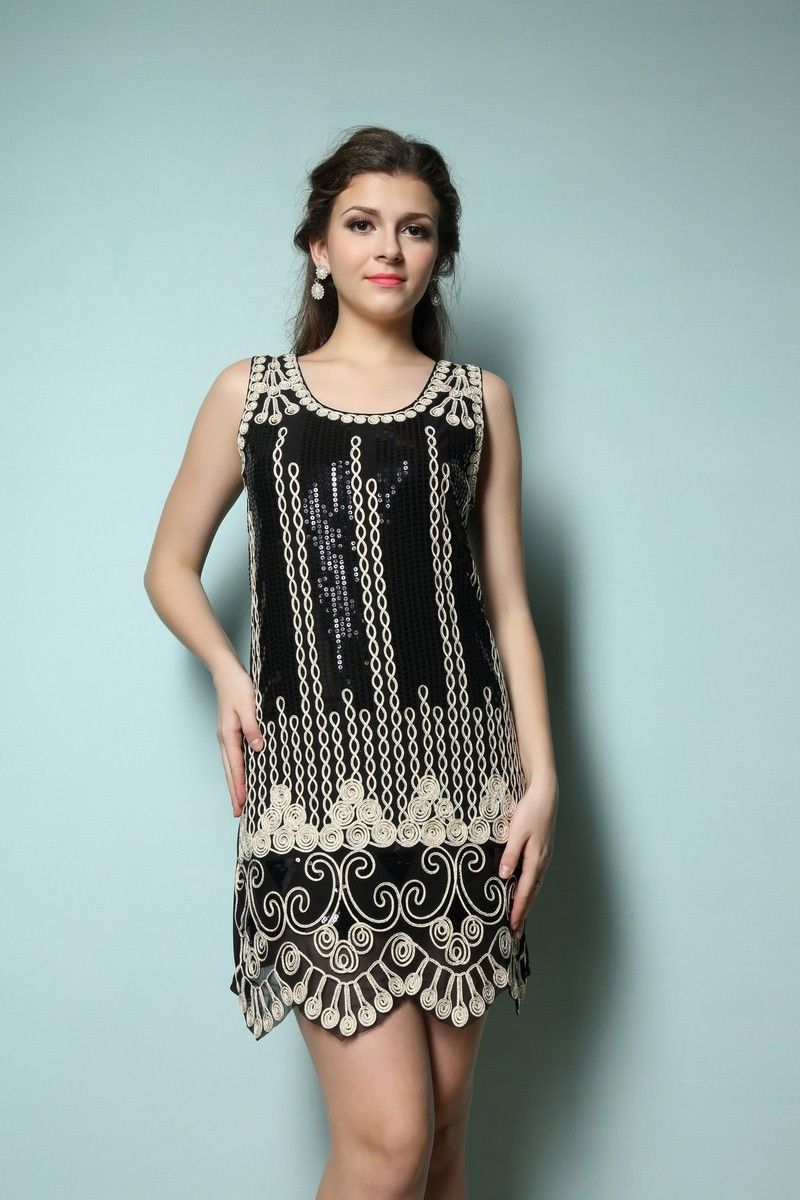 Hot Sale 1920\'S STYLE GATSBY VINTAGE LOOK CHARLESTON SEQUIN FLAPPER ...