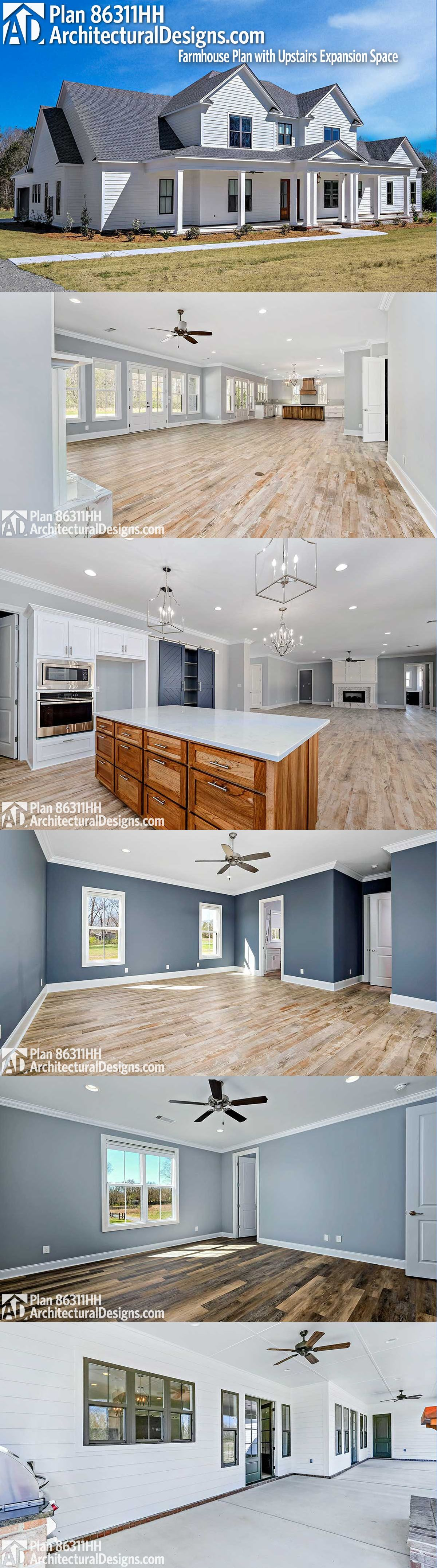 Architectural designs farmhouse plan hh gives you br ba sq ft more photos online ready when are where do want to build also rh pinterest