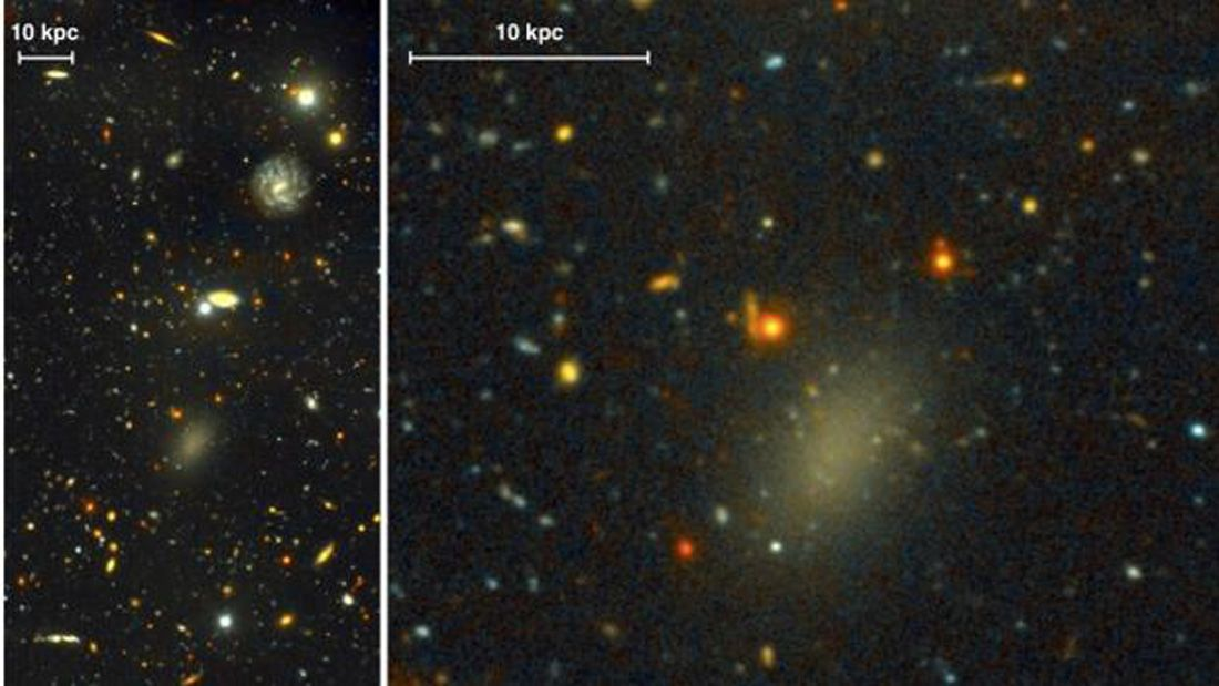 c00a2be09e1b This Weird Galaxy Is Actually Percent Dark Matter - - - Astronomers have  discovered a massive galaxy made almost entirely of dark matter.